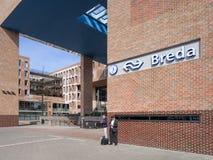 Nouvelle gare ferroviaire extérieure Breda, Hollandes Images libres de droits