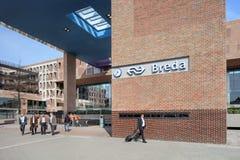 Nouvelle gare ferroviaire extérieure Breda, Hollandes Images stock