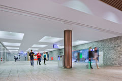 Nouvelle gare ferroviaire intérieure Breda, Pays-Bas Photos libres de droits