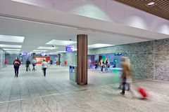 Nouvelle gare ferroviaire intérieure Breda, Pays-Bas Images stock