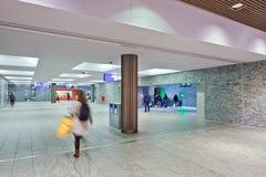 Nouvelle gare ferroviaire intérieure Breda, Pays-Bas Photo libre de droits