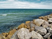 Nouvelle jetée de plage de Smyrna Image libre de droits