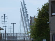 Nouvelle Katy Trail Pedestrian Bridge Photos libres de droits