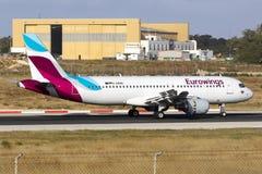 Nouvelle ligne aérienne d'Eurowings Image libre de droits