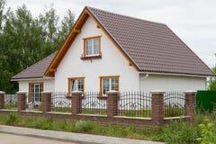 Nouvelle maison à vendre Images libres de droits