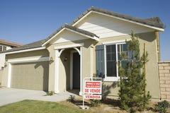 Nouvelle maison à vendre Photo libre de droits