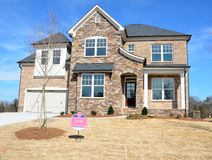 Nouvelle maison à vendre en Géorgie, Etats-Unis Photos stock
