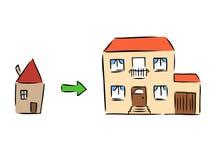 Nouvelle maison illustration libre de droits