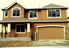 Nouvelle maison dans la construction Image libre de droits