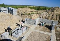 Nouvelle maison de construction Photographie stock