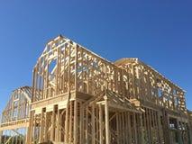 Nouvelle maison en construction Images libres de droits