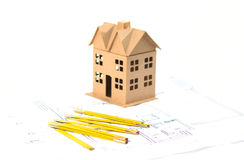 Nouvelle maison sur le modèle Photo libre de droits