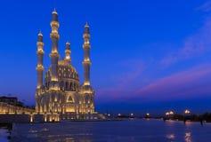 Nouvelle mosquée à Bakou Image libre de droits