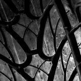 Nouvelle photo de plan rapproché de pneu de voiture Images libres de droits