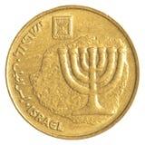 Nouvelle pièce de monnaie israélienne de l'agora 10 Images libres de droits