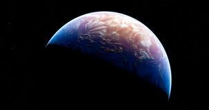 Nouvelle planète de bleu de fiction Images libres de droits
