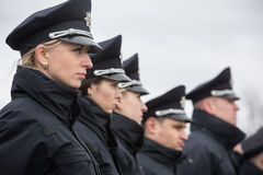 Nouvelle police de patrouille de l'Ukraine Photographie stock libre de droits