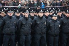 Nouvelle police de patrouille de l'Ukraine Image libre de droits