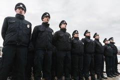Nouvelle police de patrouille de l'Ukraine Image stock