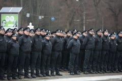 Nouvelle police de patrouille de l'Ukraine Images stock