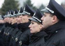Nouvelle police de patrouille de l'Ukraine Images libres de droits