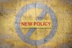 Nouvelle politique des textes illustration libre de droits