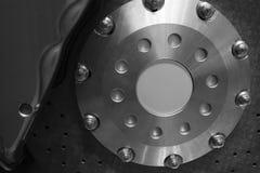 Nouvelle roue de frein de voiture de plan rapproché Photographie stock libre de droits