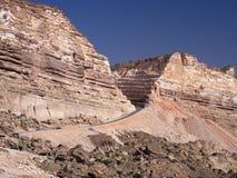 Nouvelle route de Hasik à Shuwaymiyah Photos stock