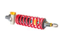 Nouvelle suspension rouge de moto Photographie stock
