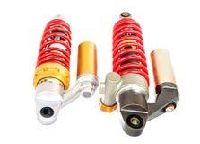 Nouvelle suspension rouge de moto Images stock
