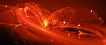 Nouvelle technologie rougeoyante ardemment dans l'espace lointain illustration libre de droits
