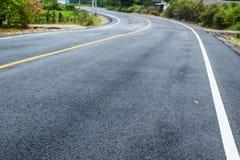 Nouvelle texture d'asphalte avec la ligne photographie stock