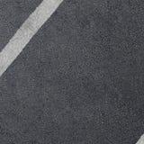 Nouvelle texture d'asphalte avec la ligne tirée blanche Image stock