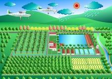 Nouvelle théorie agricole, vecteur Photographie stock