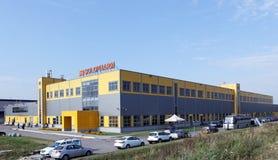 Nouvelle usine pharmaceutique moderne Solopharm à St Petersburg, Russie Images libres de droits