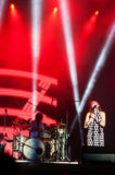 Nouvelle Vague live. Nouvelle vague on stage at the Bucharest Greensounds festival 2015 Stock Image