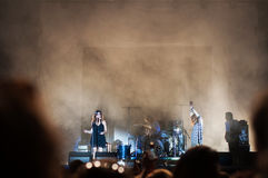 Nouvelle vague on stage. At the Bucharest Greensounds festival 2015 Stock Photography
