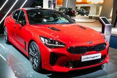 Nouvelle voiture 2018 de Kia Stinger image stock