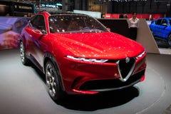 Nouvelle voiture de Romeo Tonale SUV d'alpha photos stock