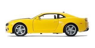Nouvelle voiture de sport modèle jaune Images libres de droits