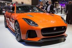 Nouvelle voiture 2017 de type f de coupé de Jaguar SVR Photographie stock