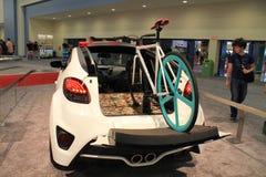 Nouvelle voiture faite sur commande de concept de Hyundai Image libre de droits