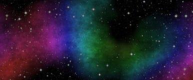 Nouvelle vue panoramique dans l'espace lointain Le secret de la Science Découverte des planètes éloignées illustration de vecteur