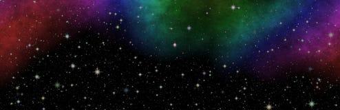 Nouvelle vue panoramique dans l'espace lointain Le secret de la Science Découverte des planètes éloignées illustration libre de droits