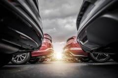 Nouvelles actions de concessionnaire automobile Images stock