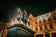 Nouvelles années Ève de Zagreb Images stock