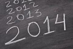 2014, nouvelles années Photos libres de droits