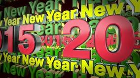 2015 nouvelles années banque de vidéos