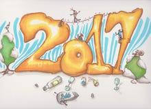 2017 nouvelles années photo libre de droits