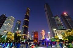 2016 nouvelles années chinoises dans la place de Guangzhou Huacheng Photographie stock